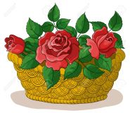 16491997-wattled-basket-with-flowers-red-roses-and-green-leaves