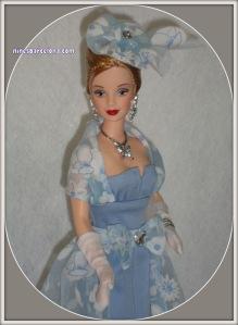 Barbie vestit blau cel